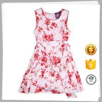 Professional manufacture Latest design Soft Kids flower girl dress