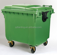 1100L recycling garbage bin with plastic cover