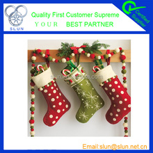 Popular home decor christmas stocking wholesale