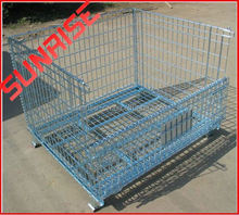 Evergreat warehouse stackable wire container steel cage