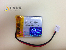 3.7V 350mAh Li-polymer recharge high capacity battery 502530