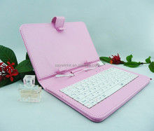 Pink and white musical keyboard bluetooth wireless case
