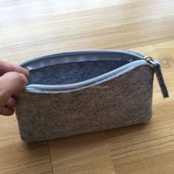 custom grey felt tote bag handmade felt laptop bag 100% wool felt shopping bags