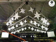 2015 hot selling 8-pointed white inflatable hanging decoration stars