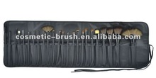 24PCS Professional Nylon Hair Black Handle With Bag Make Up Brush Set
