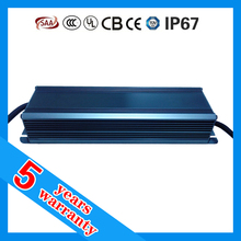 5 years warranty waterproof IP67 COB LED CC driver 180W