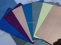 4x8 1.0mm 304 Hairline Finish Color Coated Stainless Steel Sheet for Decor