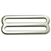 China supplier eco-friendly 51mm metal belt webbing strap double buckle adjuster buckle