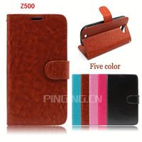 Hot new product book style leather flip case for Acer Liquid Z500 card slots holder