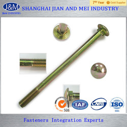 1/2 x 8 galvanized ribbed carriage head bolt
