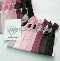 2015 girls hair band printing knotted custom elastic fabric hair tie