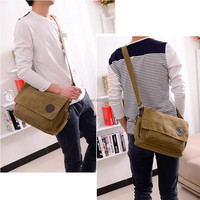 Casual vintage canvas best mens messenger bags for college