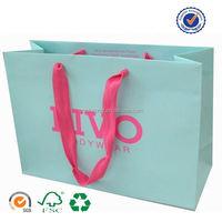 U color Customized 250gsm art paper bag