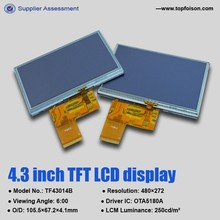 4.3 inch lcd touch module with 480x272 RGB WQVGA lcd screen module for car GPS navigation