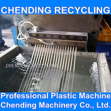 CHENDING pet bottle flakes plastic granules pelletizing line machine