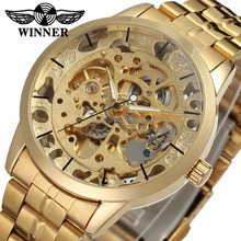 2015 winner gold watch chinese transparent automatic mechanical skeleton watches for men made in china factory