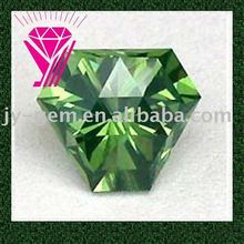 peridot fancy cut green cubic zirconia cz gemstone