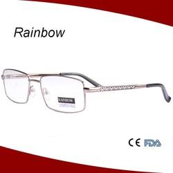 Half frames memory flex eyeglasses frames with slim temples