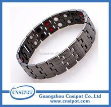 4 elements men's stainless steel energy magnetic bracelet