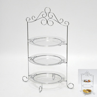 3pcs acrylic plate 3 tier wedding cake stand