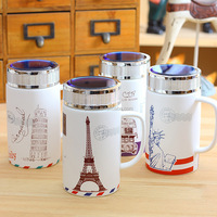 Sapphire cover glass ceramic glass office tower goddess series Grind arenaceous gift mugs