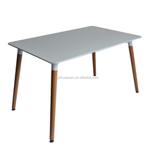 Modern Casual MDF matt Four Legs square Dining Table