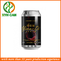 Customize black Aluminum beer beverage Can