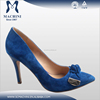 Royal blue sheep suede elegant fashion ladies pumps shoes
