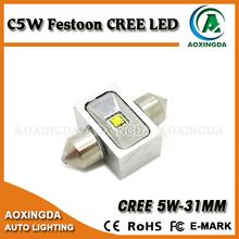 festoon 31mm C.R.E.E 5W LED dome light bulb