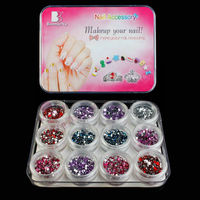 3d cover glass nail art stone designs
