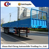 CHINA top ranking 3 axle sidewall cargo semi trailer with FUWA axles for sale