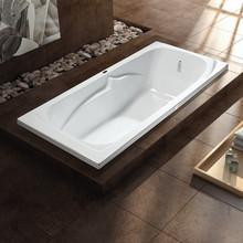 1 persons rectangular cheap drop-in acrylic bathtub