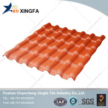 Spanish style synthetic resin ASA/PVC roof tile design