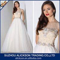 Fetching A Line Scoop Neck Layered Tulle Wedding Dress Beading Patterns