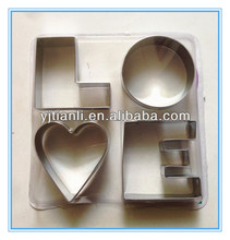 Staninless steel LOVE shape cookie cutter for cake wedding p