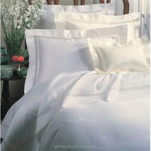 Golden manufacter 100% cotton plain 4 pcs bedding linen set for luxury hotel