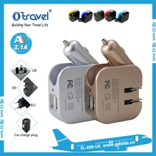 5v 2.1 amp car charger and wall adapter 2 in 1 power supply unit