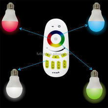 Hot selling high quality wireless bulb hot sale rgbw mufti function screen touch remote control bulb rgb colorful bulb