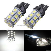 Best Price T20 7443 7440 27 5050 SMD LED Pure White Car Brake Turn Signal Stop Rear Light Bulb Lamp DC12V
