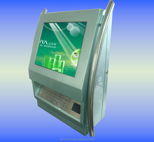 wall mount touch kiosk suit for smart chip and pin card