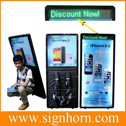 New Product Outdoor Advertising With Battery Powered Backpack Human Billboard