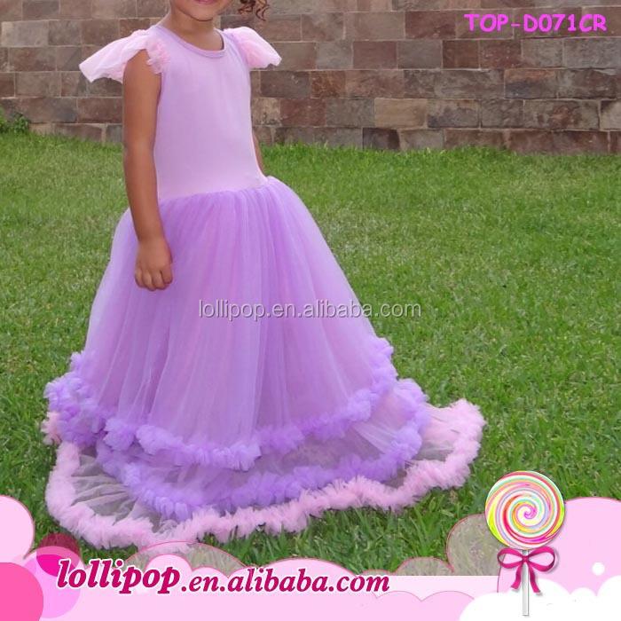 Teenagers Girls Long Frocks Designer One Piece Party Dress Flutter ...