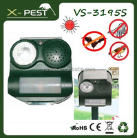 X-pest bell howell product VS-3195s defender mega sonic electronic solar animal guard ultrasonic bird bat pig repeller chaser