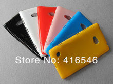Soft Glossy TPU Gel Case for Nokia Lumia 720 Back Cover