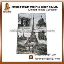 Alibaba China New France Paris Printed Cotton Plain Tea Towel Kitchen Towel
