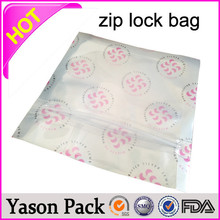 Yasonpack ldpe plastic zipper bag vinyl slider zipper bag plastic pouch zip