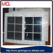 guangzhou price pvc silding window white upvc sliding windows PVC Sliding Windows with mosquito net