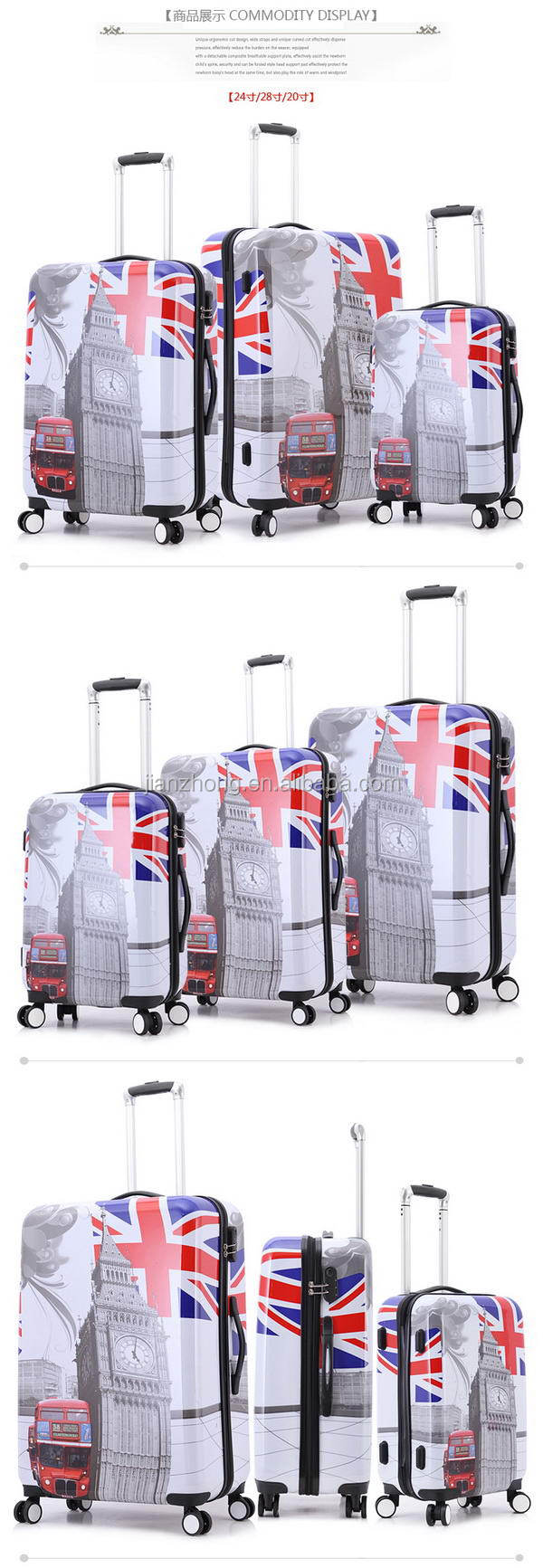 PCABS luggage 40 PC zipper(xjt)02