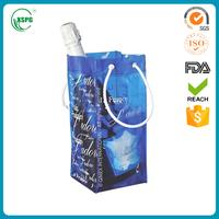 Foldable pvc wine bag beer bottle cooler holder