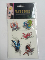 newest 3D design temporary flash colorful tattoo sticker with luminous